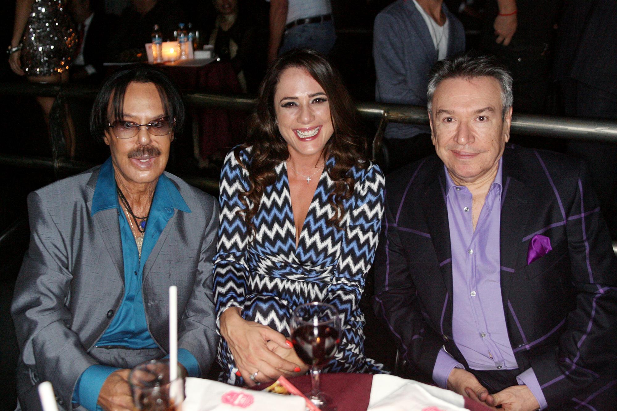 Alfredo Palacios, Betty Monroe y productor Rubén Lara