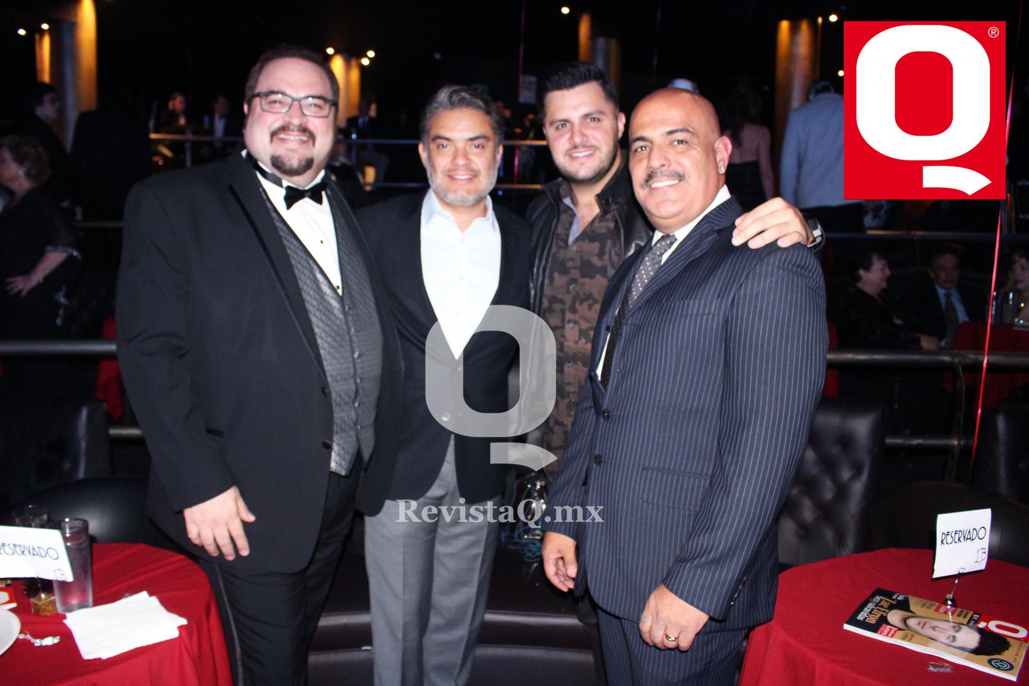 Lalo Manzano Jr., Reynaldo López, Paul Stanley y Juan Carlos Casasola