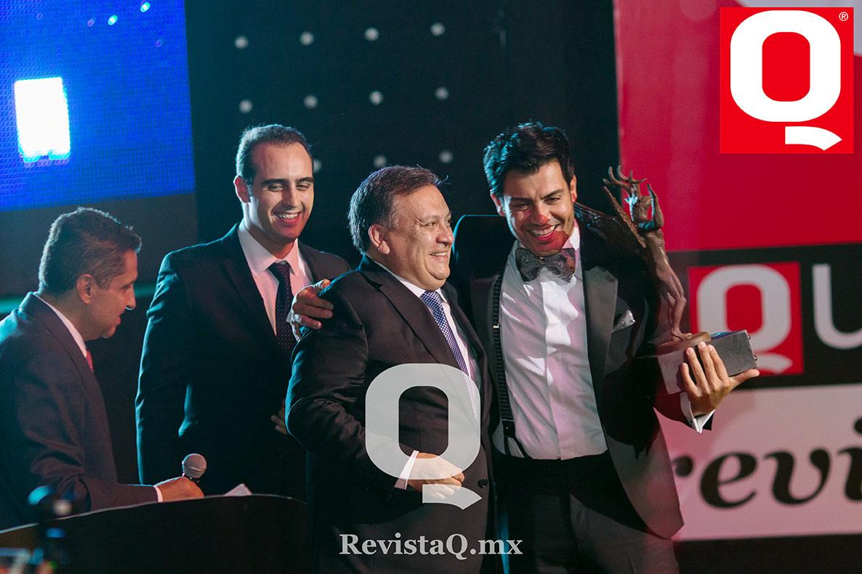 Juan Ignacio Torres Landa, Martín Hurtado y Andrés Palacios en Premios Q