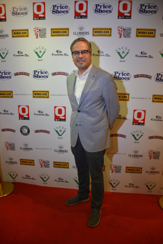Carlos Vignon durante la 10a entrega de premios Q