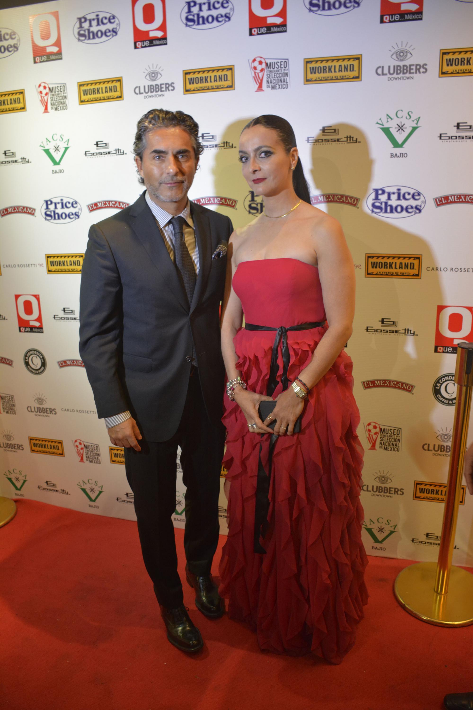 Raúal Araiza con Karla Pesquera