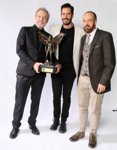 Alejandro Tommasi, Benjamín Rivero y Antonio Calvo de la obra La Dama de Negro