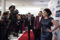 Alfredo Adame y Raquel Garza en la alfombra roja de los Premios de la Revista Q...QUÉ MÉXICO.
