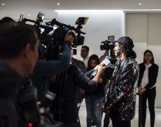Cepillin compartiendo unos momentos con los medios de comunicación en la entrega de los Premios de la RevistaQ