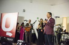Alfredo Adame durante la entrega  de los premios de la Revista Q