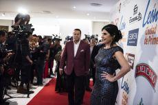 Alfredo Adame y Raquel Garza en la alfombra roja de los Premios de la Revista Q...QUÉ MÉXICO