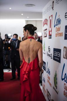 Gaby Platas a su llegada a la alfombra roja de los Premios de la  revista Q
