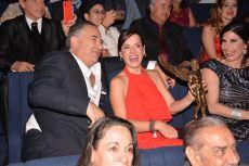 Gaby Platas muy contenta en los Premios de la Revista Q