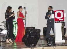 Yolanda Ventura, gaby Platas y Gerardo Aguirre en los Premios Q