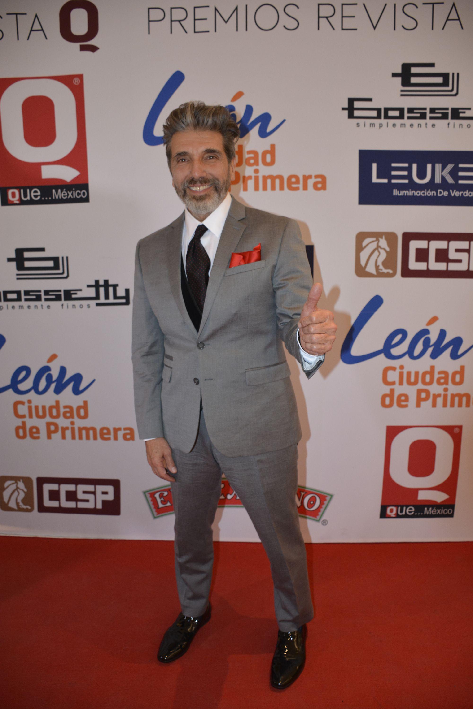 Diego Verdaguer en la alfombra roja de los premios de la Revista Q